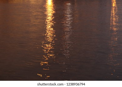 Artistic watter surface night photo
