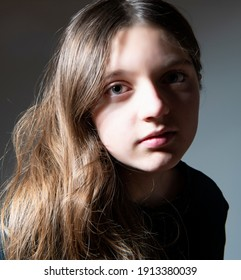 an artistic young girl portrait