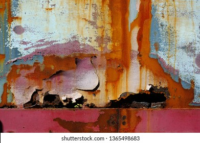 The artistry of time rusting and flaking paint