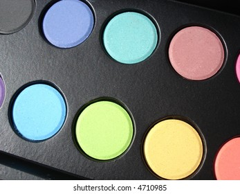 Artists color palette of pastel colors.