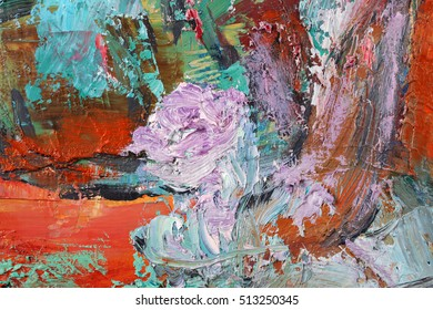 Artists oil paints multicolored closeup abstract background
