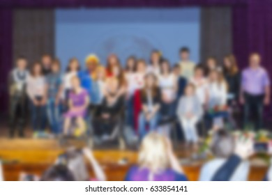 Artists on stage. Abstract image. Blurry