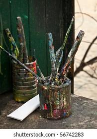 Artists paintbrushes
