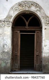 Art-Nouveau facade in Tbilisi Old town, Republic of Georgia