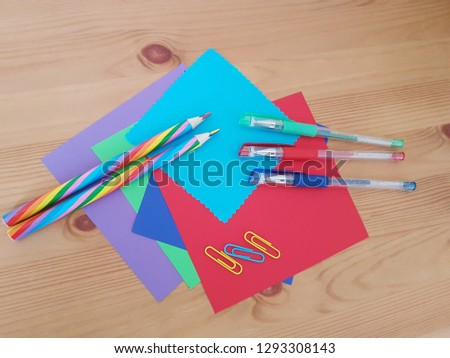 Arts Crafts Supply School Supplies Art Stock Photo Edit Now