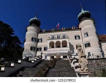 ARTSTETTEN / AUSTRIA MAY 2015 - Artstetten Castle is a chateau near the Wachau valley in Lower Austria