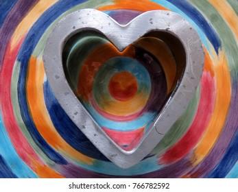 Artsy Cookie Cutter Heart