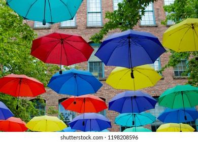 Artsy Umbrella Display