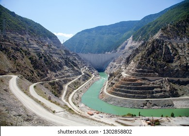 Artvin/Turkey- 20/06/2014 : The Deriner Dam.