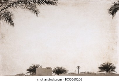 Artwork in retro style, Egypt, sharm el sheikh