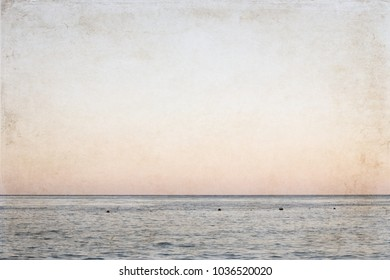 Artwork in retro style, sea