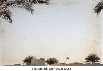 Artwork in vintage style, Egypt, sharm el sheikh
