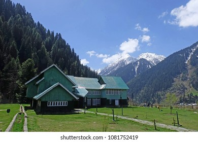 Aru valley. A tourist attraction in Pahalgam, Kashmir, Jammu & Kashmir. City ruled by India.