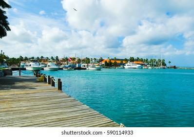 Aruba- Oranjestad Harbur