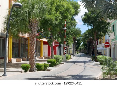 Aruba/NL - November 11, 2018: Street in Oranjestad, Aruba