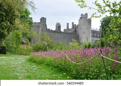 Arundel castle, west Sussex, England and gardens