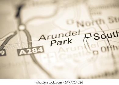 Arundel Park. United Kingdom on a geography map
