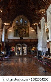 ARUNDEL, UNITED KINGDOM - APRIL 20, 2019: The Baron's Hall, Arundel Castle, West Sussex, England