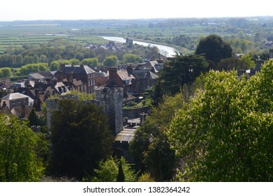 ARUNDEL, UNITED KINGDOM - APRIL 20, 2019: View of Arundel town from the Castle