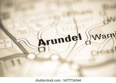 Arundel. United Kingdom on a geography map