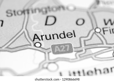 Arundel. United Kingdom on a map