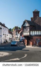 ARUNDEL, WEST SUSSEX, UK, 5TH AUGUST 2018 - Street view of the town of Arundel, West Sussex, UK