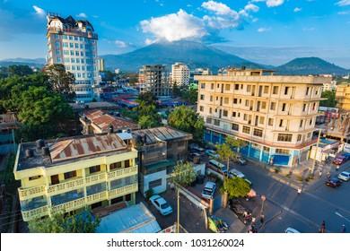 Arusha, Tanzania -January 24, 2018 - Arusha city view. Tanzania.