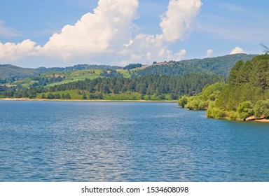 The Arvo Lake is an artificial water reservoir for hydroelectric energy, located near Lorica in the middle of the mountains of Sila National Park, Calabria, Italy