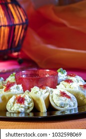 Asafeer, Arabic Sweets with Cream for Ramadan and Eid