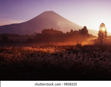 The Asagari highland morning scene
