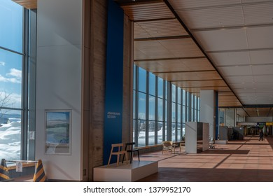 Asahikawa, Japan - 18 Feb 2019: Modern design in JR Asahikawa station.