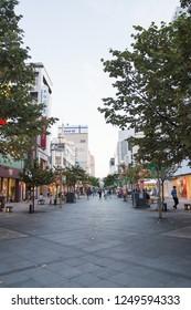 Asahikawa, Japan - August 19,2018: Asahikawa shopping street It is one of the principal tourist destinations in Asahikawa, Japan.
