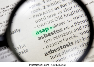 Asap word or phrase in a dictionary.