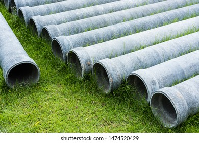 Asbestos pipes  in the lawn