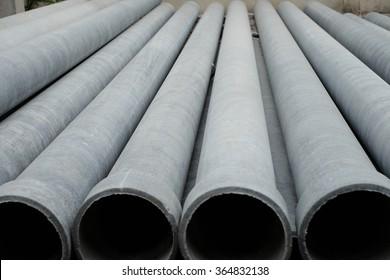 Asbestos pipes used in plumbing.
