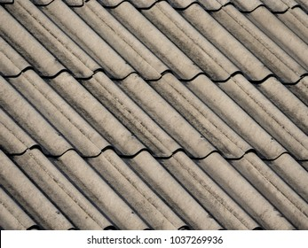 Asbestos roof background