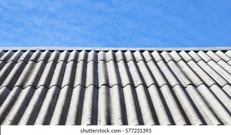 Asbestos roof. Asbestos roofing construction.