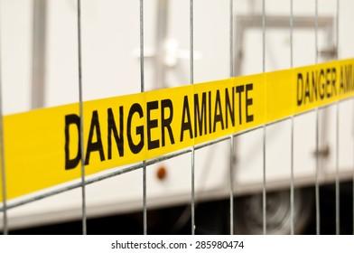 asbestos site sign