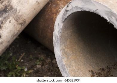 Asbestos slate pipe