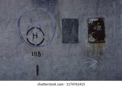 asbtract background wall rusted painting