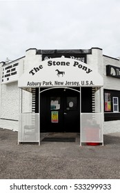 ASBURY PARK, NEW JERSEY - JUNE 2015: The Stone Pony music venue, made famous by Bruce Springsteen.