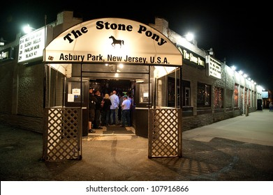 ASBURY PARK, NJ, USA - MAY 7: Legendary rock club The Stone Pony on May 7, 2011. Bruce Springsteen was a frequent performer at the Stone Pony in the early days of his career.