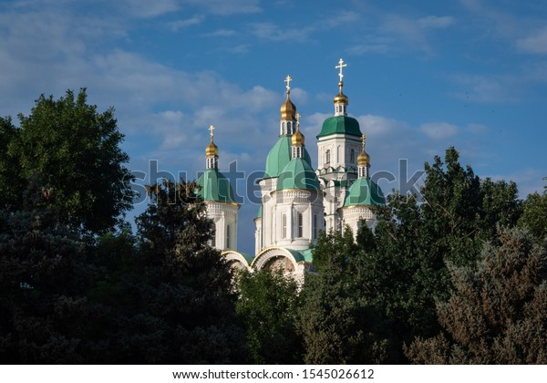 The Ascension cathedral in Astrakhan's Kremlin, Russia