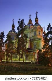 Ascension Cathedral (Zenkov Cathedral) in Almaty. Kazakhstan