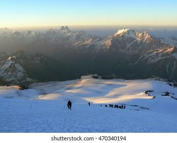 Ascent of Elbrus in the Caucasus