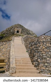 The ascent to a mausoleum in Montenegro