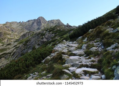 Ascent to Rysy peak (2503 m), High Tatras, Slovakia