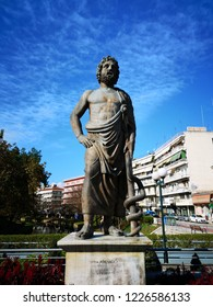 Asclepius statue in his birthplace, Trikala, Greece.