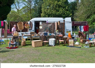 Ascot,England-May 5th,2015:Great Car Boots, Car boot organisers since 1995, specialising in Ascot with antiques and collectables and lots of genuine sellers/buyers from all over the country.