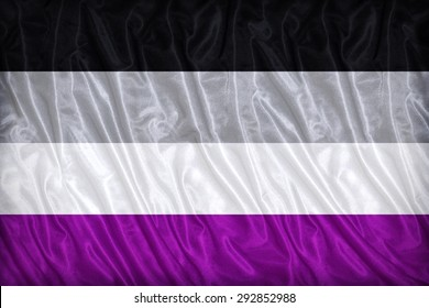 Asexual flag pattern on the fabric texture ,vintage style